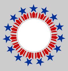 american flag symbols round border vector image