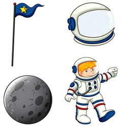 An astronaut vector image