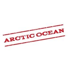 Arctic Ocean Watermark Stamp vector