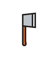 axe icon on white background vector image