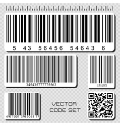 barcode set vector image