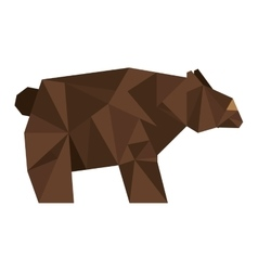 Bear silhouette low poly icon vector