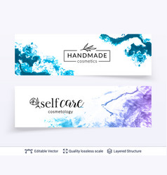 beauty spa care salon cosmetologist logo design vector image
