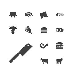 Beef icons vector