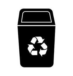 Bin recycle ecology icon vector