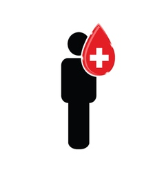 blood donation with man vector image