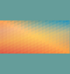 blue and orange gradient mosaic pattern vector image