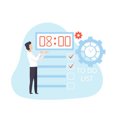 Businessman planning organizing and controlling vector