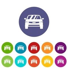 Car set icons vector