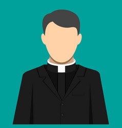 catholic priest pastor servant of god in cassock vector image