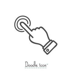 click doodle icon vector image