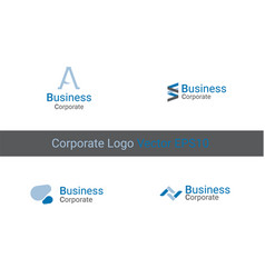 corporate logo identity vector image