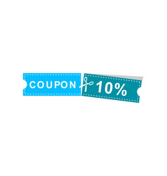 coupons discount banner 10 offers vector image