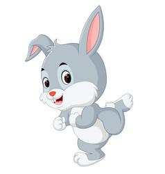 cute baby rabbit cartoon vector image