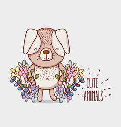 Cute flowers doodle cartoons vector