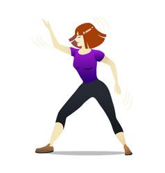 Dance aerobics in cartoon style vector