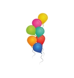 Decorative Birthday balloons vector image