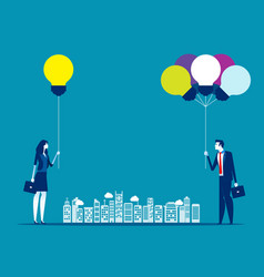 diverse ideas with single ideas concept business vector image