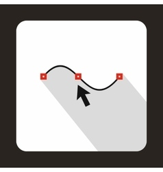Drawing the curve icon flat style vector