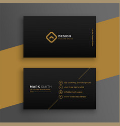 Elegant black dark business card design template vector