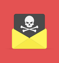 Envelope and document with skull vector