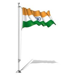Flag Pole India vector