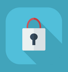 Flat modern design with shadow icons lock vector