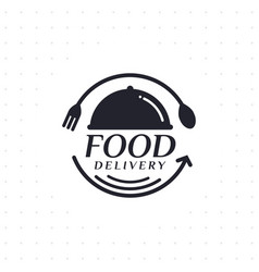 food delivery in black color vector image