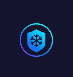 Frost resistance icon vector