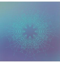 Geometric abstract form with connected lines and vector