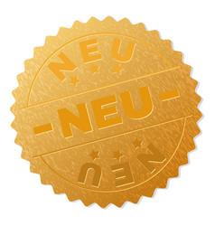 Golden neu award stamp vector