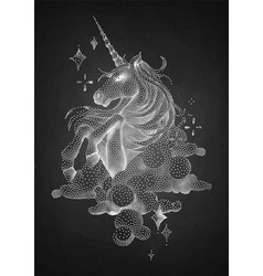graphic unicorn in stippling technique vector image