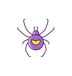 halloween spider icon thin line art design vector image