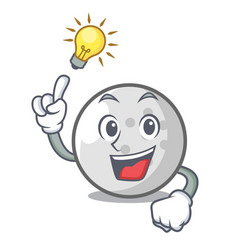 have an idea golf ball mascot cartoon vector image