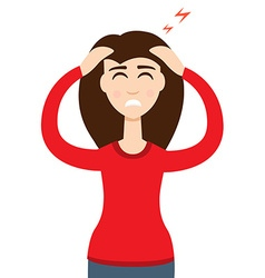 Headache girl High blood pressure concept vector image