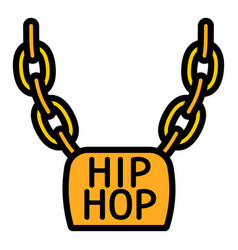 Hiphop necklace icon outline style vector