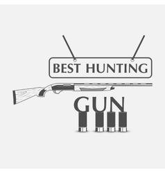icon of the hunting Club with guns vector image