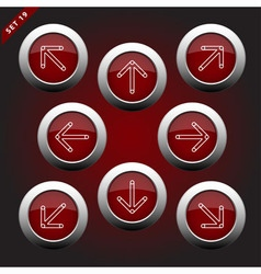 Icons with arrows - eight directions vector