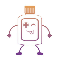 Kawaii mouthwash icon vector