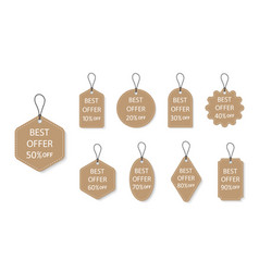 Label sale tag for discount and price hang vector