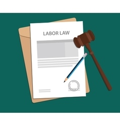 Legal concept of labor law vector