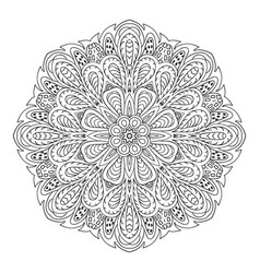 mandala doodle drawing round ornament ethnic vector image