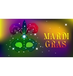 Mardi Gras mask colorful poster template flyer vector