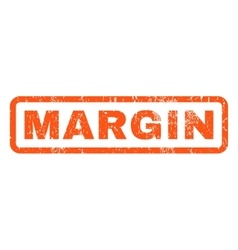 Margin rubber stamp vector