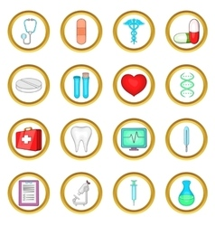 Medical set cartoon style vector image