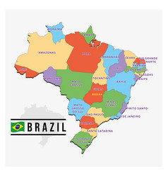 modern map brazil design vector image