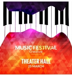 Music festival poster background jazz piano music vector