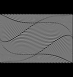 op art wavy lines pattern vector image