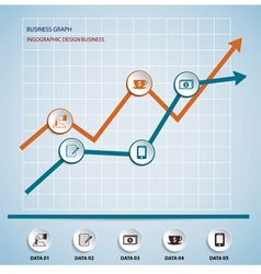 Paper chart and graph infographics vector