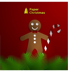 paper greeting card vector image